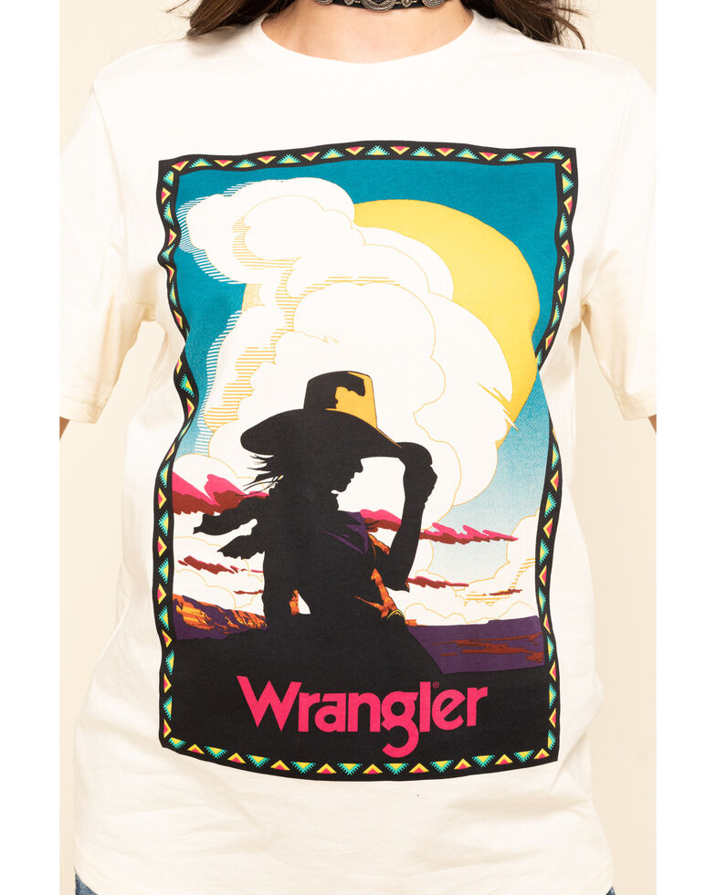 Wrangler Women's Cowgirl Silhouette Graphic Tee, Ivory, hi-res