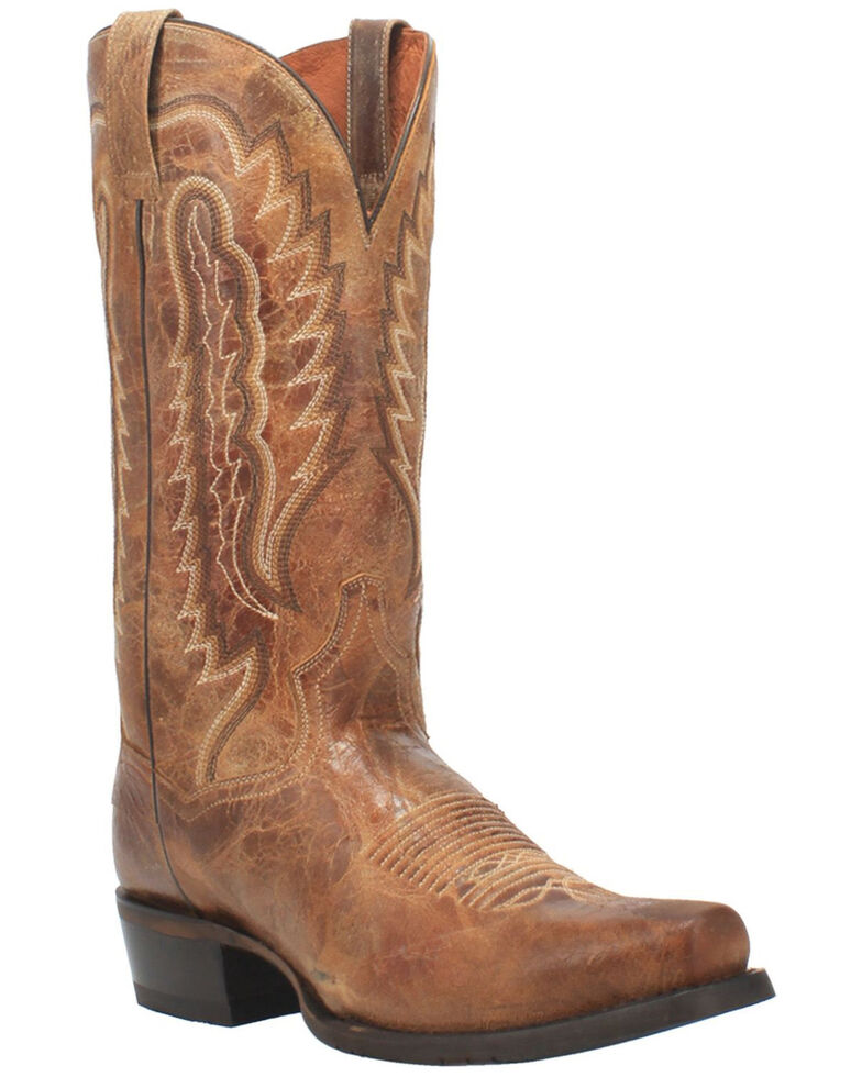 Dan Post Men's Barrett Western Boots - Wide Square Toe, Tan, hi-res