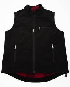 Cody James Boys' Black Wrightwood Bonded Vest , Black, hi-res
