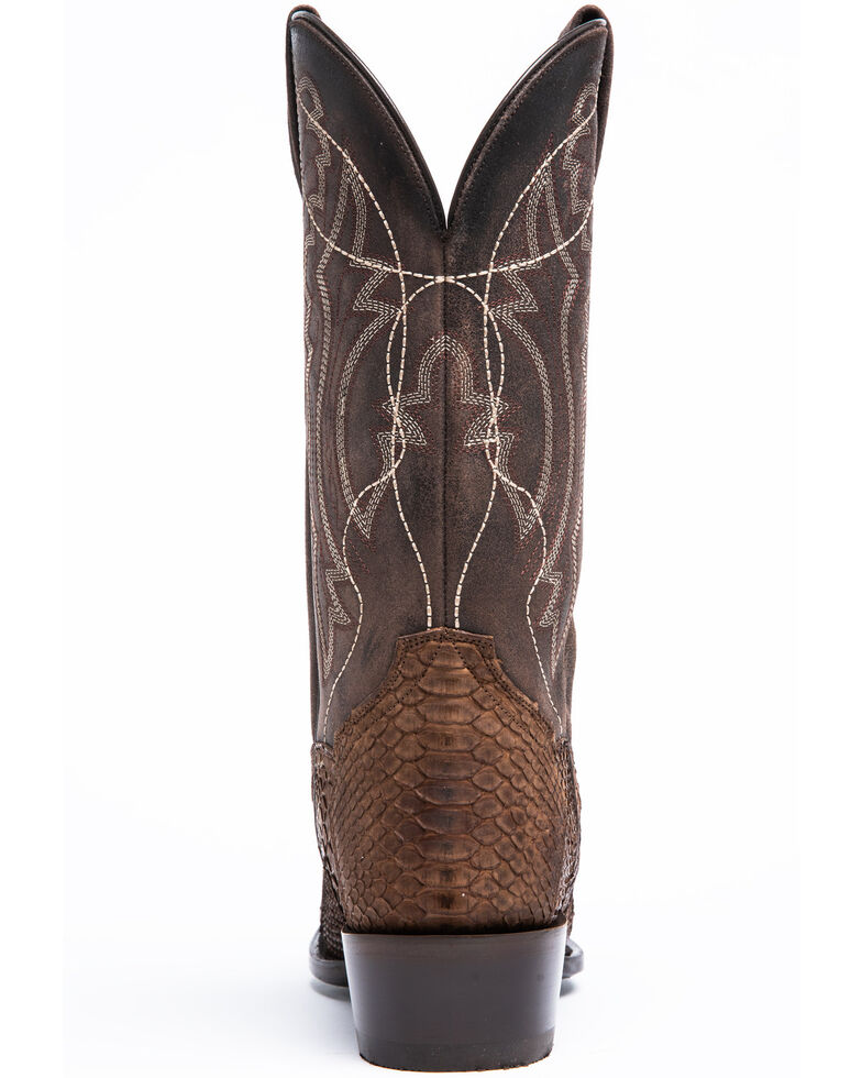 Dan Post Men's Brown Python Western Boots - Snip Toe, Lt Brown, hi-res