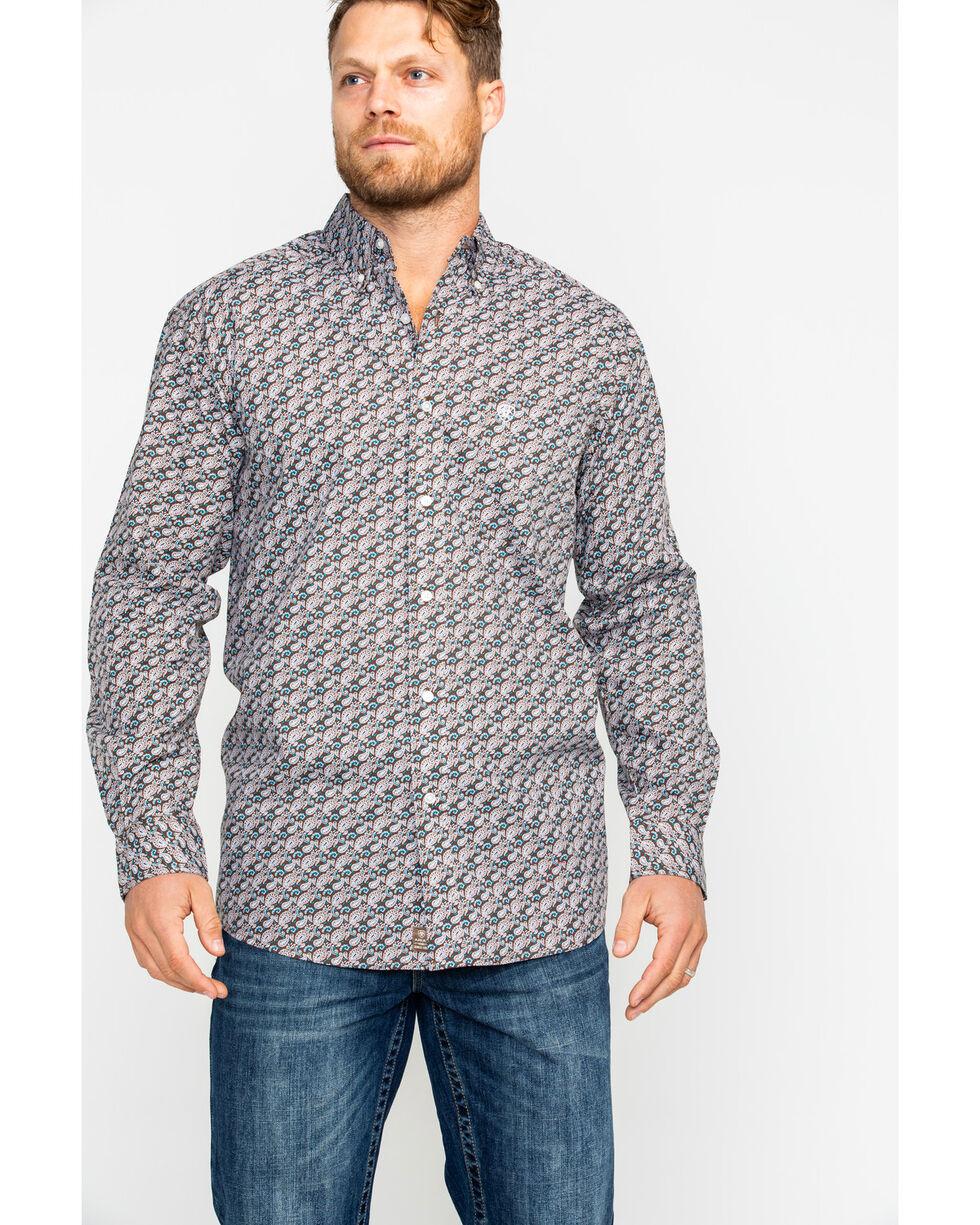Ariat Men's Hartings Paisley Print Long Sleeve Western Shirt , Multi, hi-res