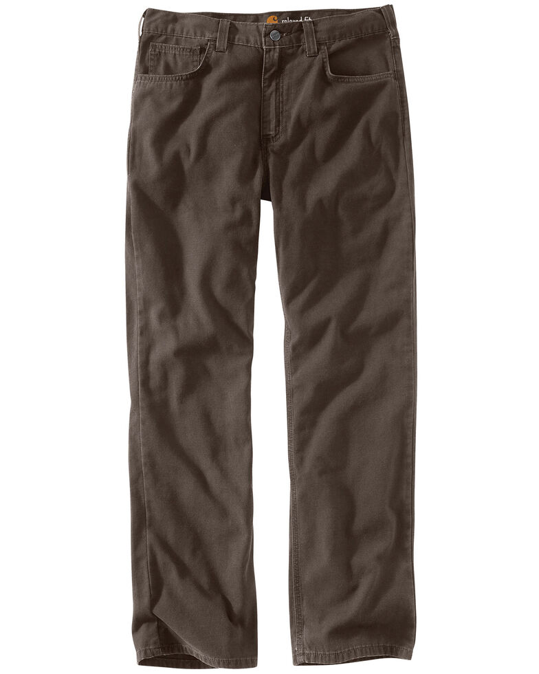 Carhartt Men's Rugged Flex Rigby Five-Pocket Jeans, Chocolate, hi-res