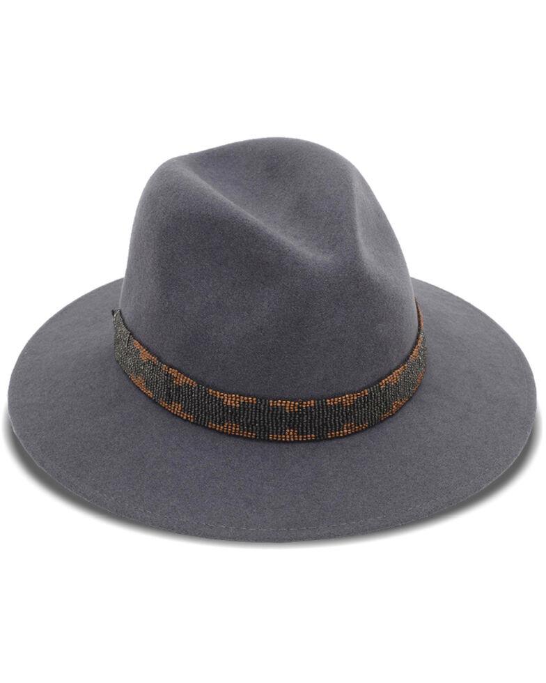 Nikki Beach Women's Grey Storm Western Wool Felt Hat , Grey, hi-res