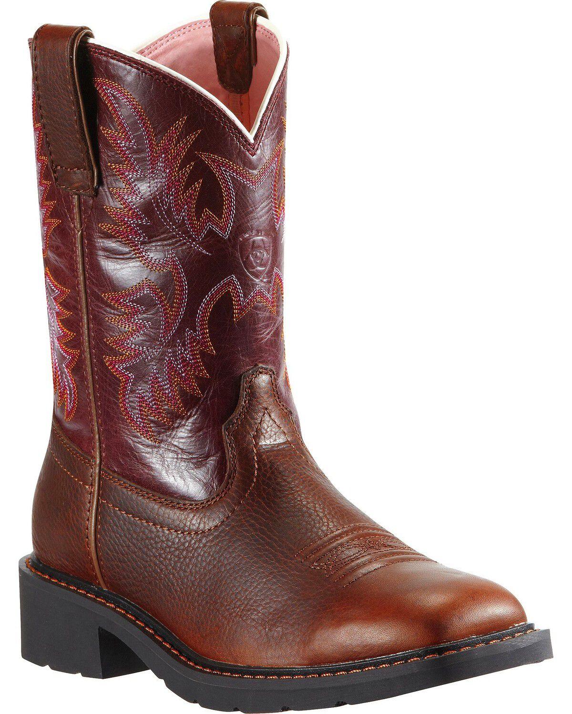 Womens Ariat steel toe boots
