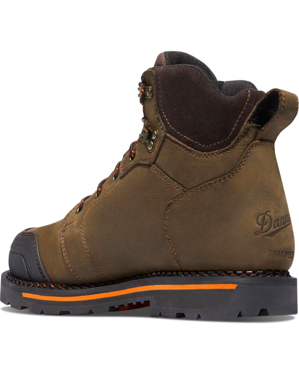 "Danner Men's Brown Trakwelt 6"" Boots - Non-Metallic Toe , Brown, hi-res"