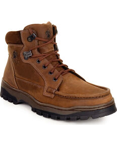Rocky Men's Outback GORE-TEX Waterproof Field Boots, Dark Brown, hi-res