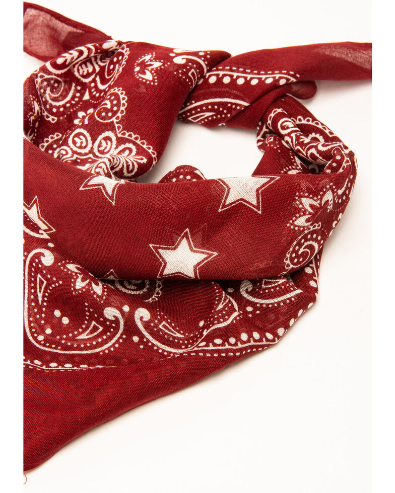 Idyllwind Women's Star In The Night Red Bandana, Red, hi-res