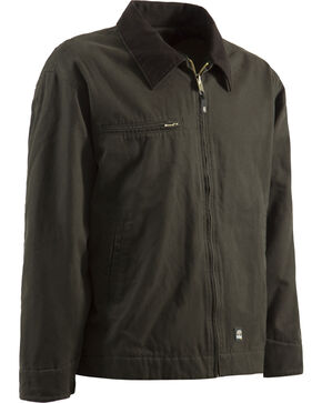 Berne Original Washed Gasoline Jacket - Tall 2XT, Olive Green, hi-res