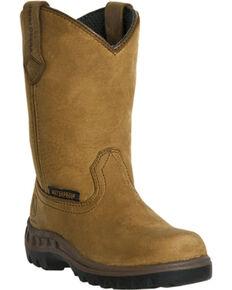 John Deere® Youth Waterproof Wellington Boots, Coffee, hi-res