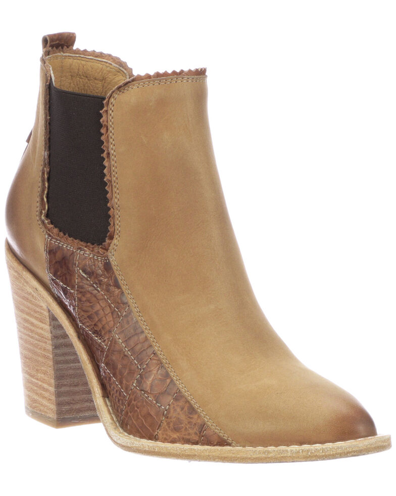 Lucchese Women's Beth Fashion Booties - Round Toe, Tan, hi-res