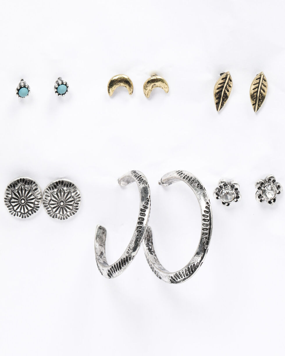 Shyanne Women's Emma Rae 6 Piece Earring Set, Silver, hi-res