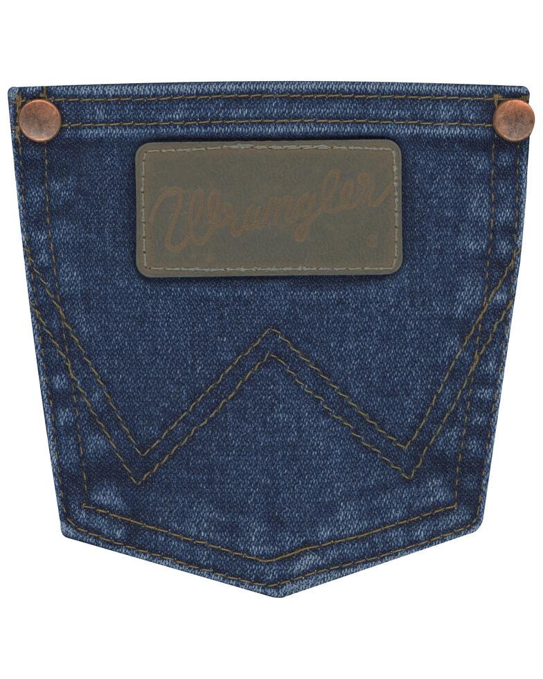 Wrangler Boys' Original Active Flex Stonewash Stretch Cowboy Cut Boot Jeans , Blue, hi-res