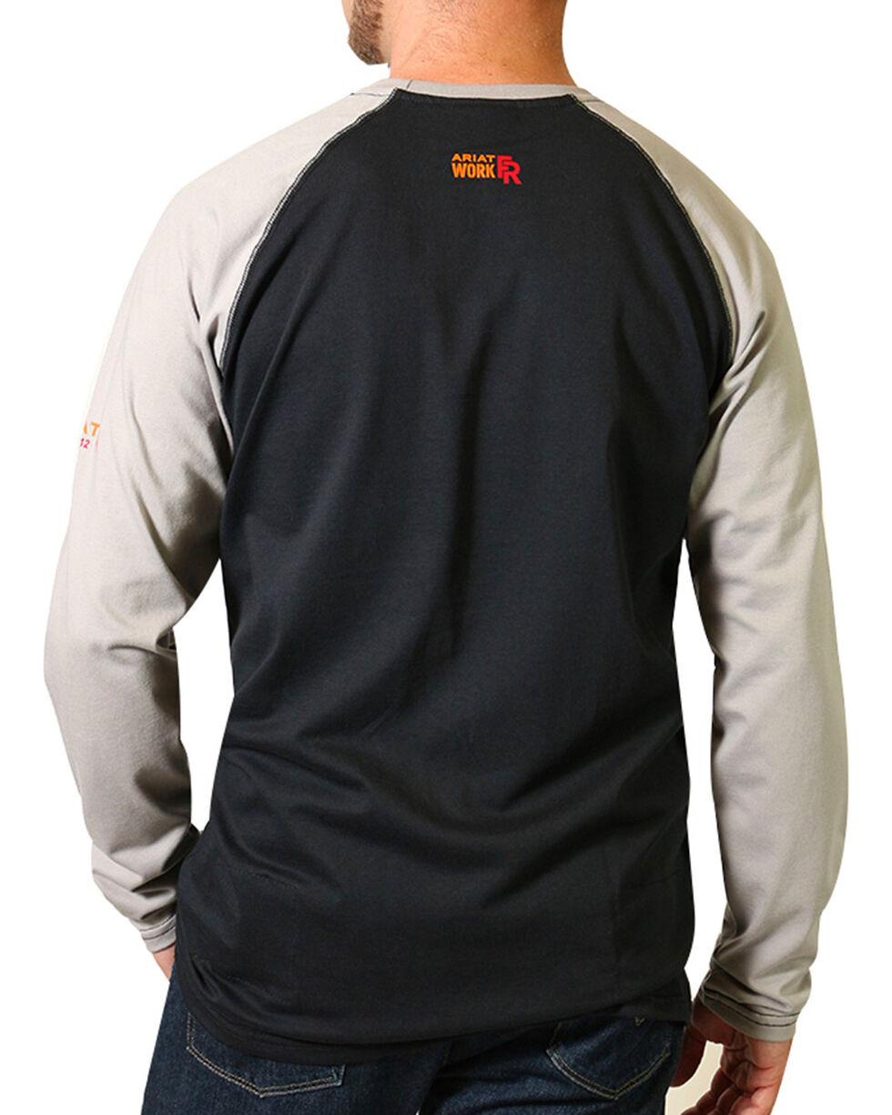 Ariat Men's FR Long Sleeve Baseball T-Shirt - Big & Tall, Black, hi-res