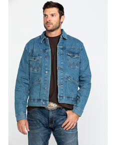Wrangler Retro Men's Dark Unlined Denim Jacket , Blue, hi-res