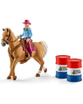 Barrel Racing Cowgirl & Horse, No Color, hi-res