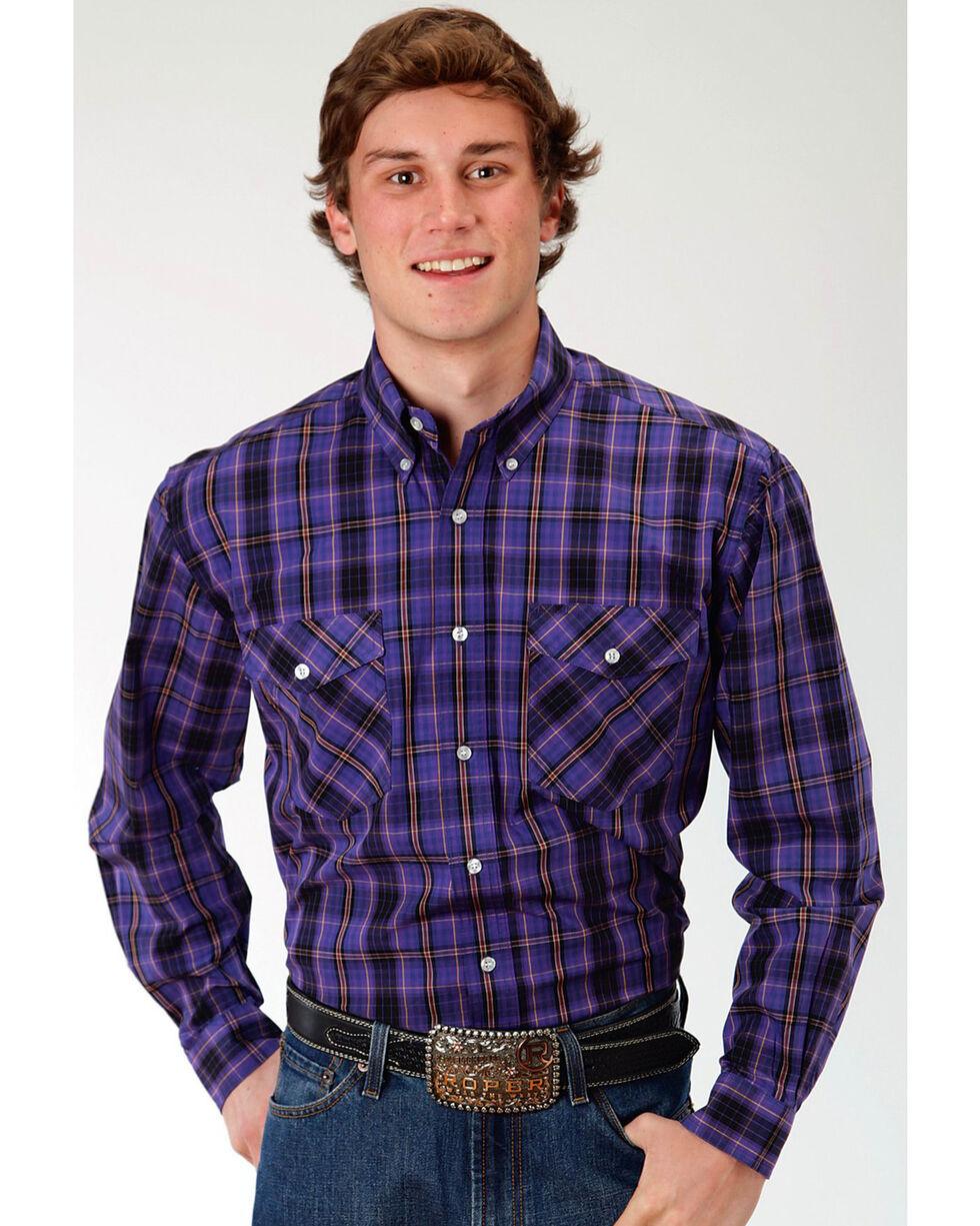 Roper Men S Jupiter Plaid Long Sleeve Button Down Shirt Boot Barn