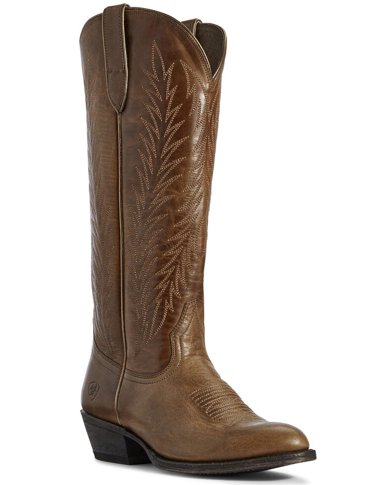 Ariat Women's Amber Legacy Two Step Western Boots - Round Toe, Brown, hi-res