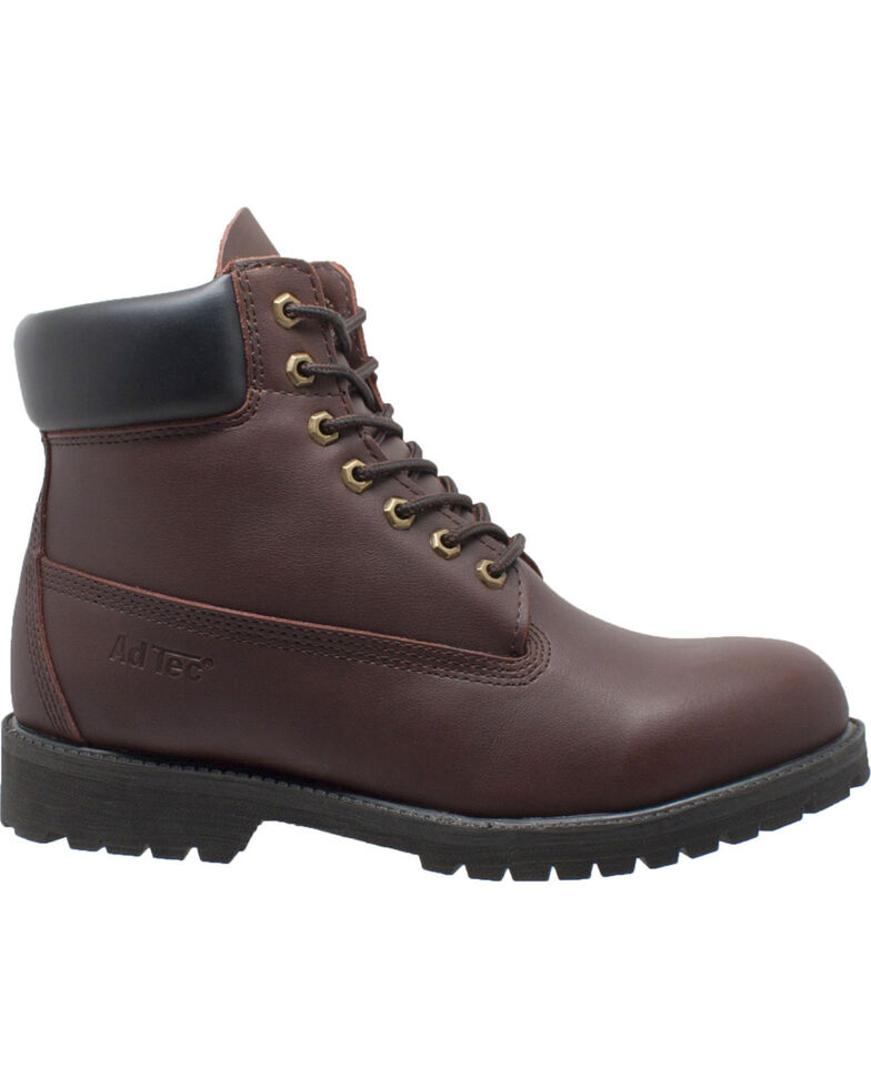 "Ad Tec Men's 6"" Brown Leather Work Boots - Soft Toe, Brown, hi-res"