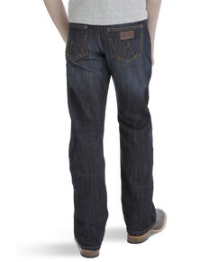 Wrangler Retro Boys' Dark Relaxed Boot Jeans , Blue, hi-res