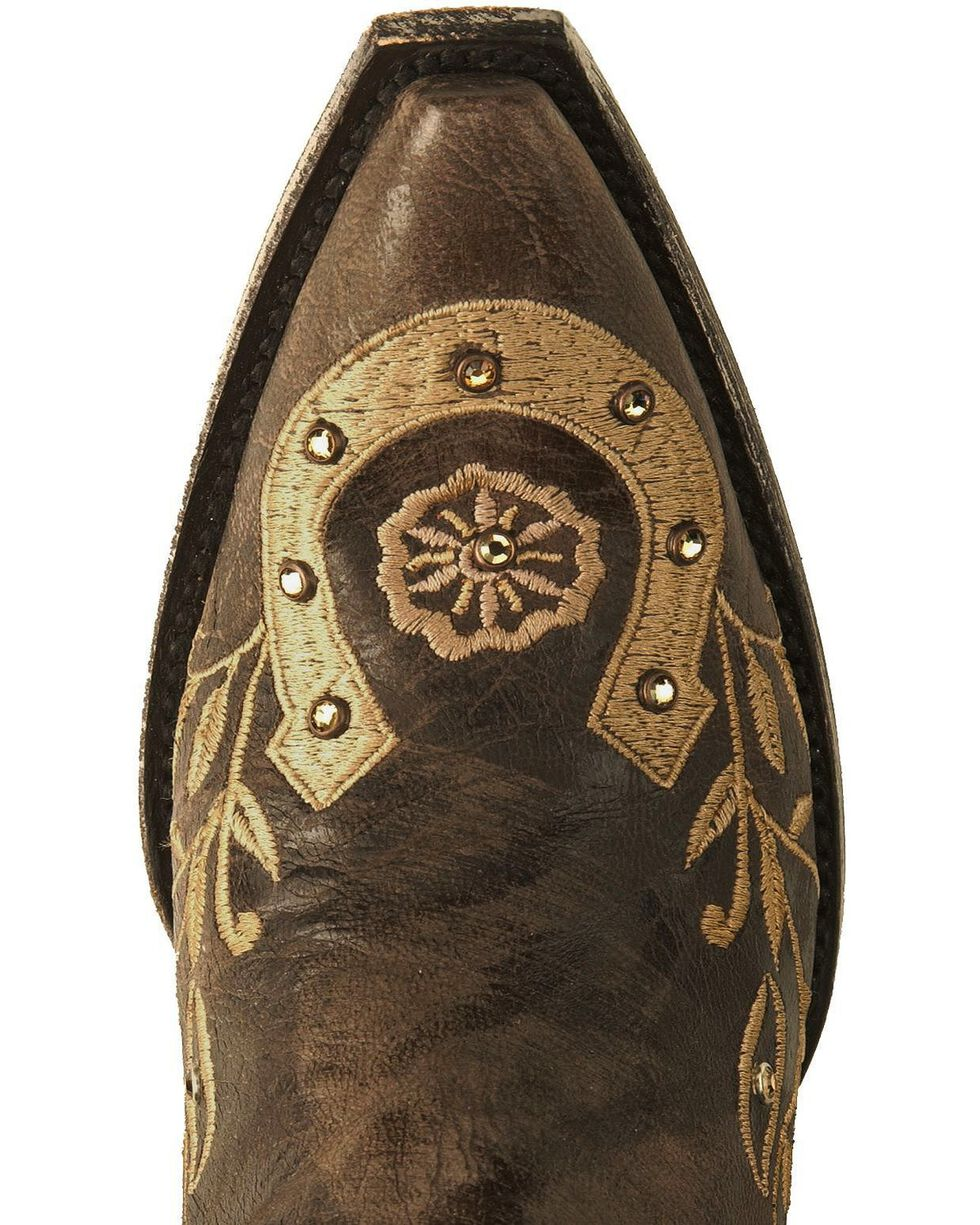 Old Gringo Women's Lucky Western Boots, Chocolate, hi-res