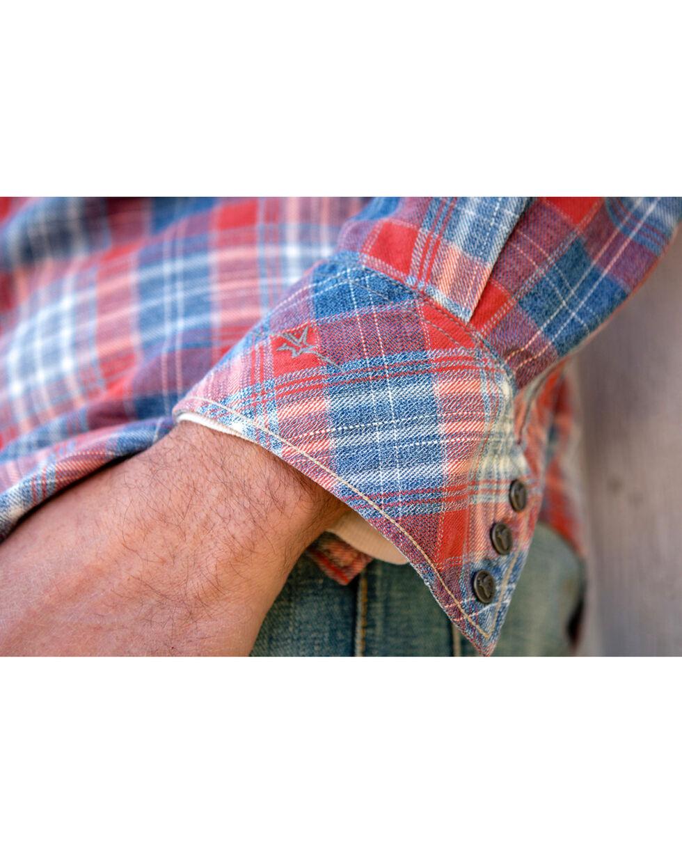 Ryan Michael Men's Frost Jaspe Plaid Shirt, Indigo, hi-res