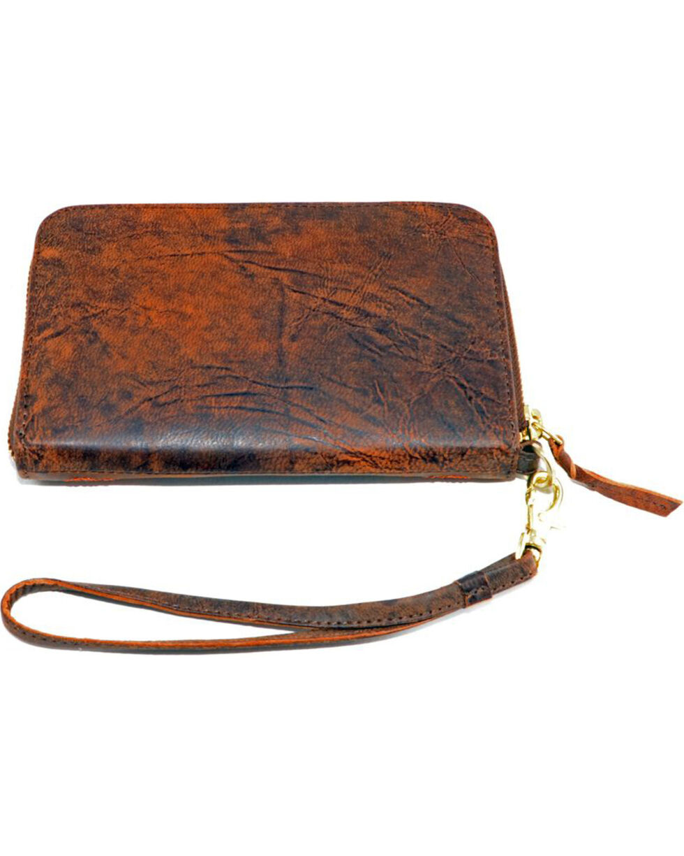 Gameday Boots University of Mississippi Leather Wristlet, Brass, hi-res