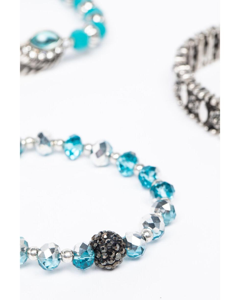 Shyanne Women's Isla Jane Turquoise Wing Bracelet Set, Silver, hi-res