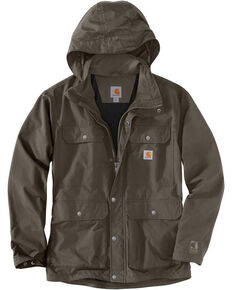 Carhartt Men's Firewood Utility Work Coat - Tall , Dark Grey, hi-res