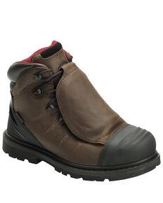 Avenger Men's Hammer External Met Guard Work Boots - Carbon Toe, Brown, hi-res