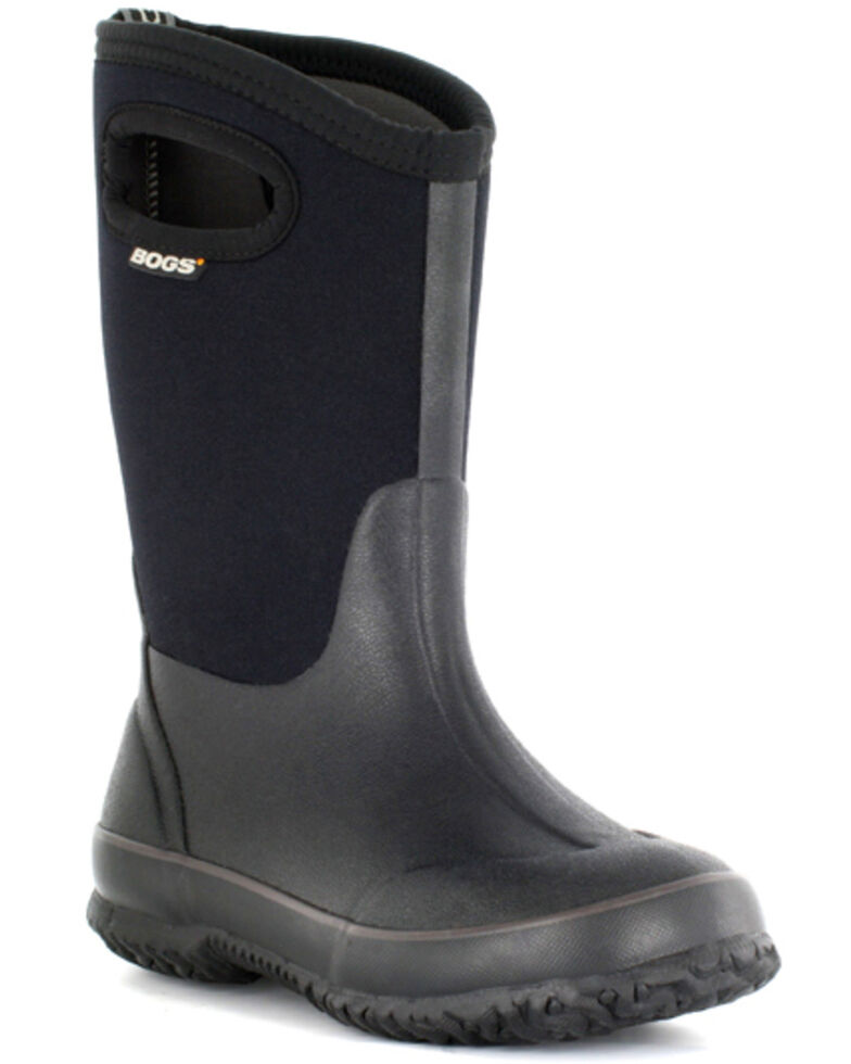 Bogs Kid's Classic High Handle Muck Boots, Black, hi-res