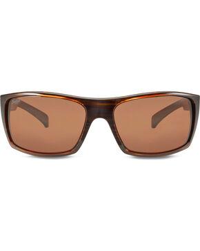 Hobie Men's Satin Brown Wood Grain Baja Polarized Sunglasses  , Brown, hi-res