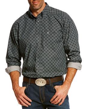 Ariat Men's Master Print Long Sleeve Western Shirt , Black, hi-res