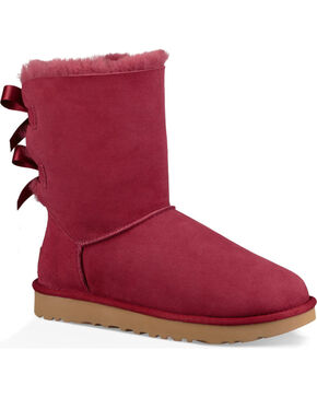 UGG Women's Rose Bailey Bow II Boots - Round Toe , , hi-res