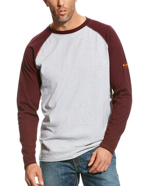 Ariat Men's FR Baseball Long Sleeve Tee , Multi, hi-res