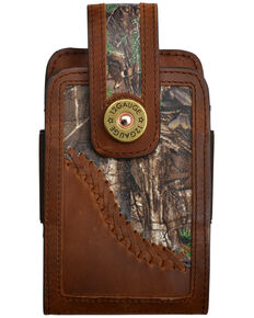 3D Men's 12 Gauge Camo Leather Smartphone Holder, Brown, hi-res
