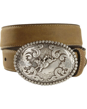 Nocona Belt Co. Youth Bull Rider Belt, Brown, hi-res