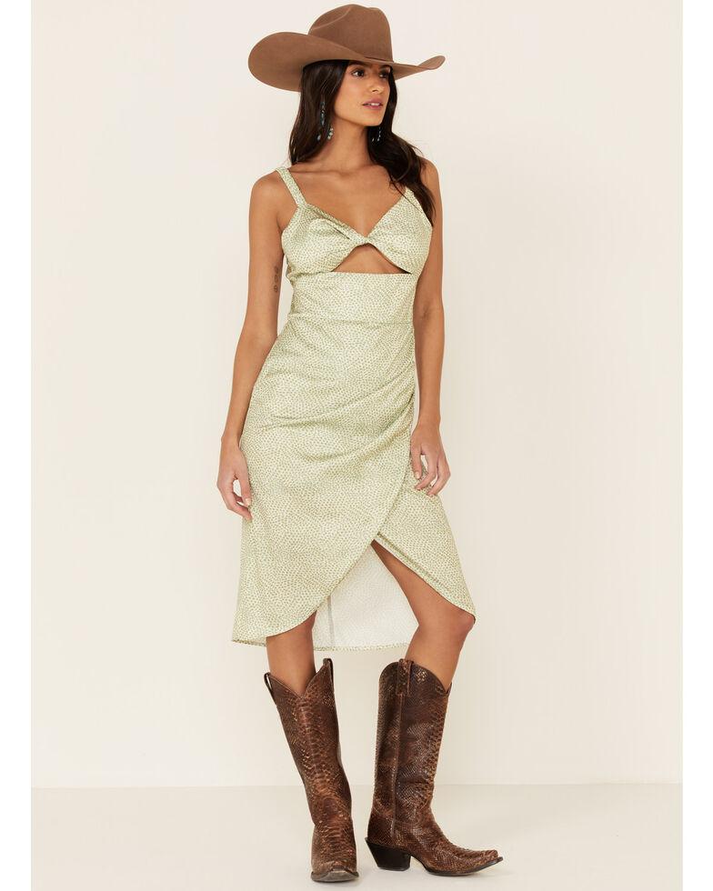 Sadie & Sage Women's Amy Dot Midi Dress, Sage, hi-res