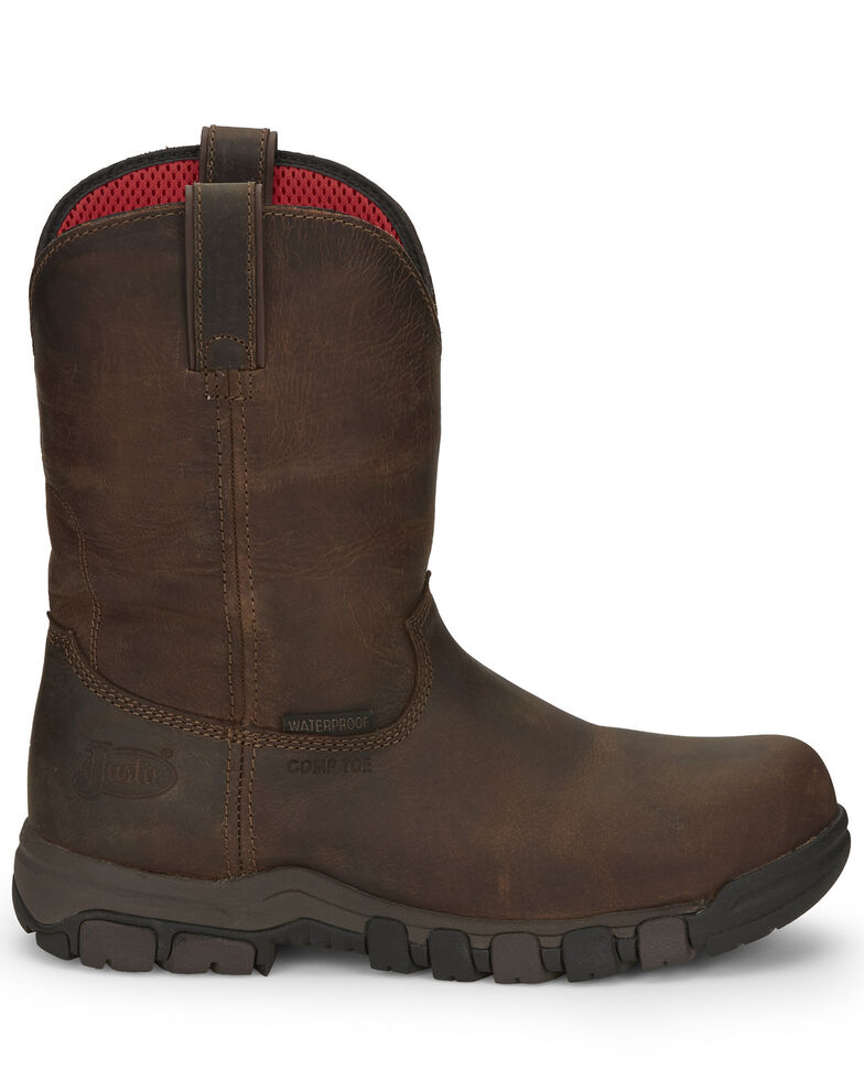 Justin Men's Basque Waterproof Western Work Boots - Composite Toe, , hi-res