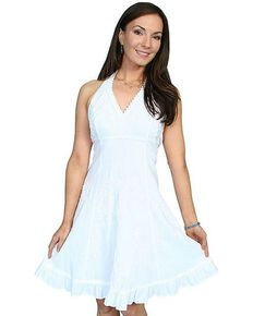 Scully Women's Cantina Halter Dress, White, hi-res