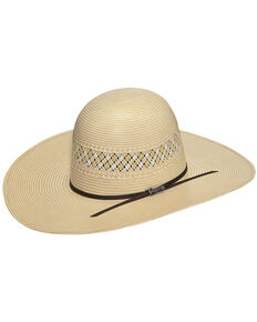 Twister Men's 10X Shantung Straw Cowboy Hat, Ivory, hi-res
