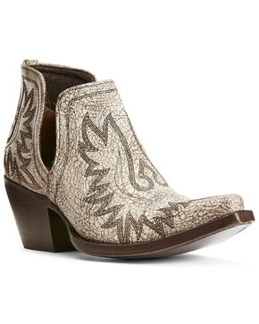 Ariat Women's Dixon Blanco Western Booties - Pointed Toe, White, hi-res