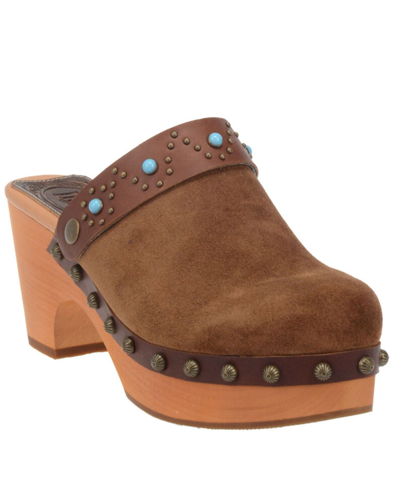 Dingo Women's Woodstock Fashion Booties - Round Toe, Brown, hi-res