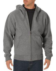 Dickies Midweight Fleece Zip-Up Hooded Work Jacket, Hthr Grey, hi-res