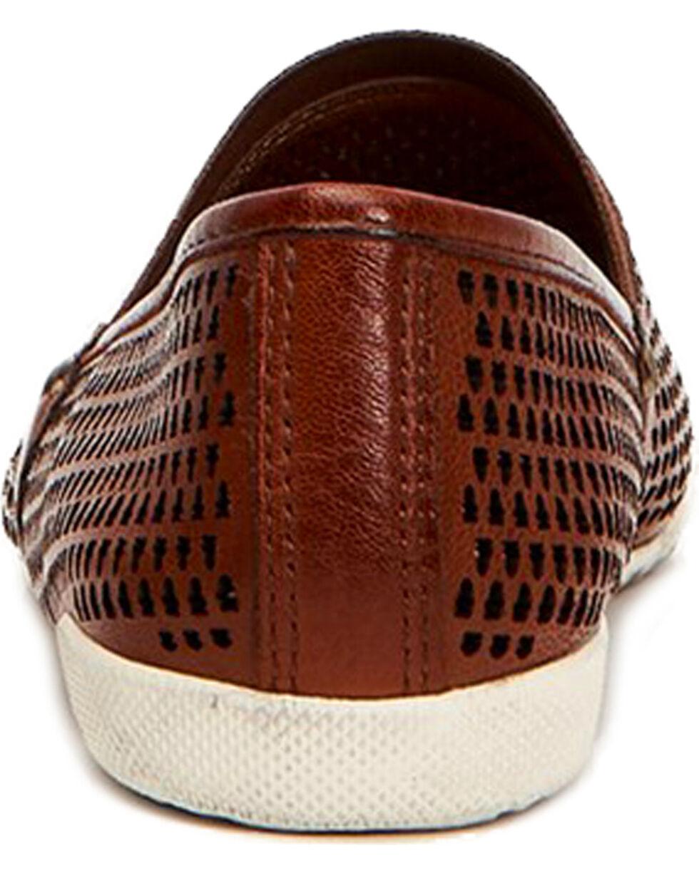 Frye Women's Melanie Perforated Slip On Shoes , Cognac, hi-res