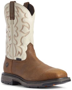 Ariat Men's Rye Workhog Western Work Boots - Steel Toe, Brown, hi-res