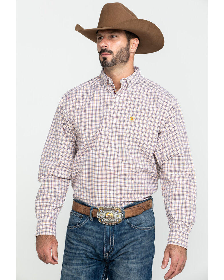 Ariat Men's Fresno Multi Plaid Long Sleeve Western Shirt - Tall , Multi, hi-res
