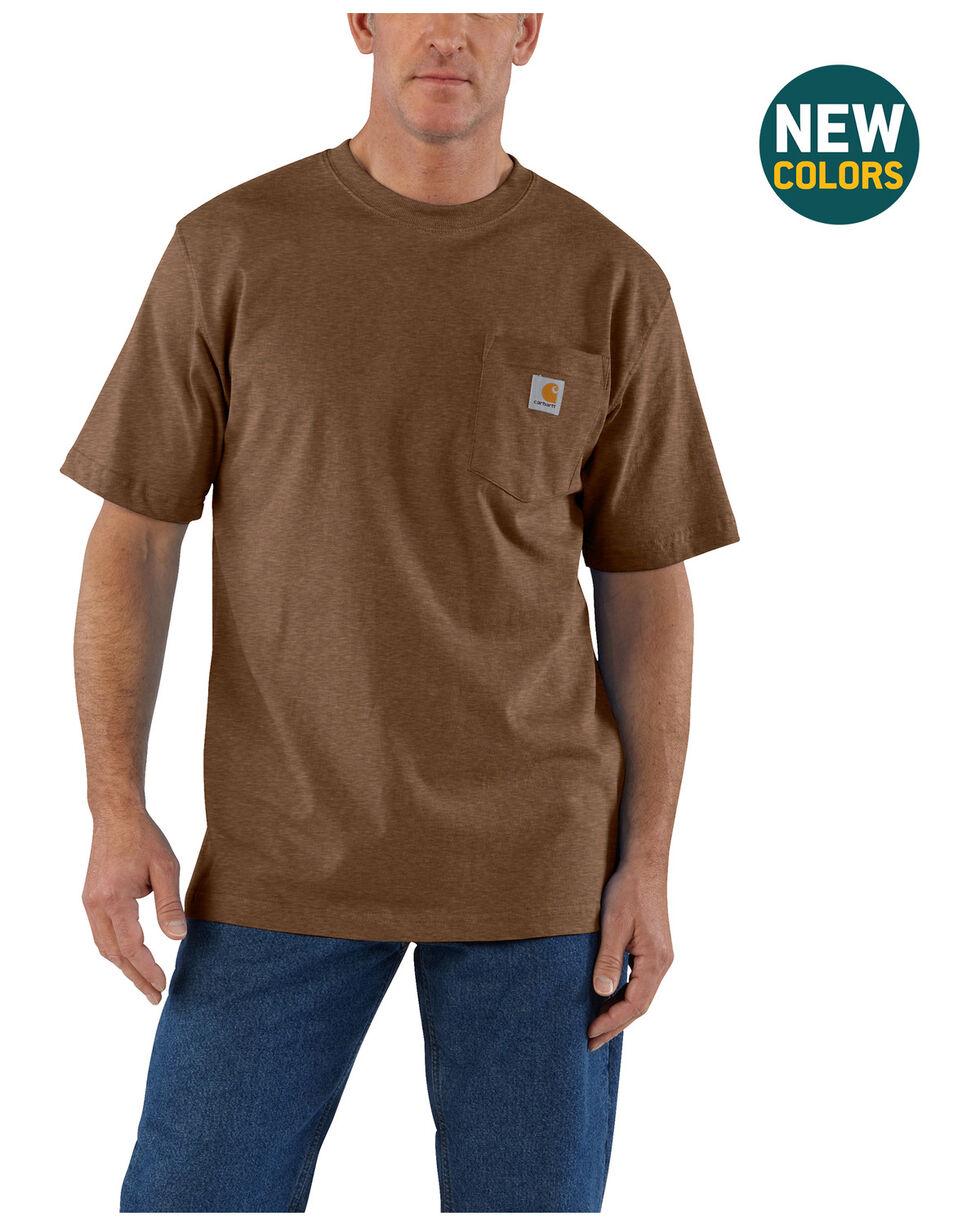 Carhartt Men's Workwear Pocket T-Shirt - Big & Tall, Brown, hi-res