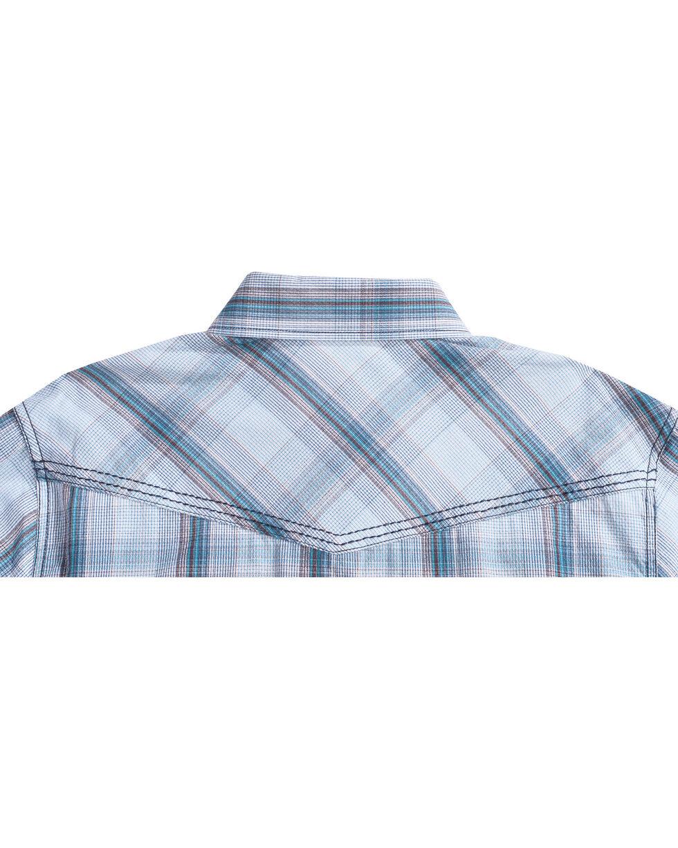 Cody James Men's Ghost Town Plaid Long Sleeve Shirt, White, hi-res