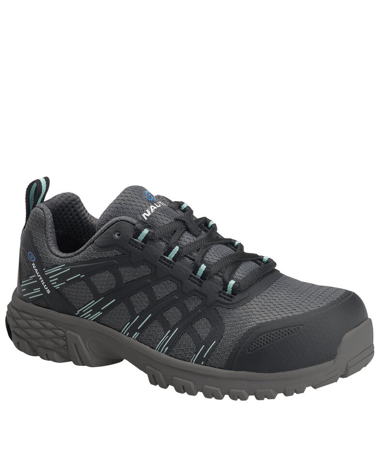 Nautilus Women's Stratus Slip Resisting Work Shoes - Composite Toe, Grey, hi-res