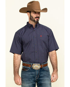 Ariat Men's Norwalk Plaid Short Sleeve Western Shirt - Tall , Multi, hi-res